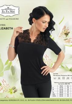 1195 Elizabeth блузка El Fa Mei черный