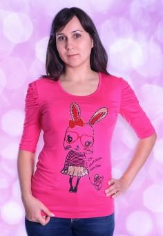 044 Блуза розовый 44-50