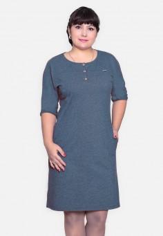 2530 Платье 46-54 синий