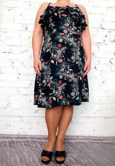 5556/3 Платье цветы 46-54