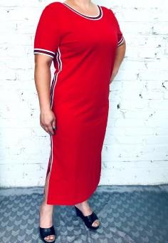 5587 Платье 46-58 красный