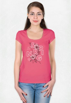 2733 Футболка женская 46-52 ярко-розовый